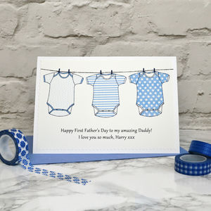 'Baby' Personalised 1st Fathers Day Card