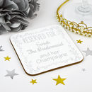 Personalised Bridesmaid Wedding Coaster