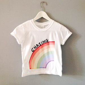 Child's 'Chasing Rainbows' T Shirt And Sweatshirt - clothing