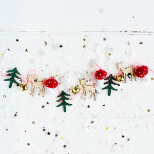 Christmas Woodland Wooden Garland - baby & child sale