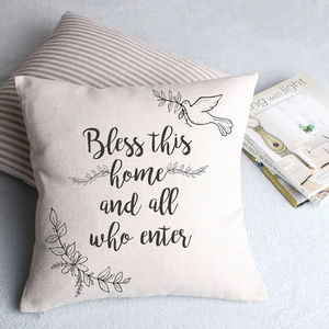 Bless This Home Cushion Cover