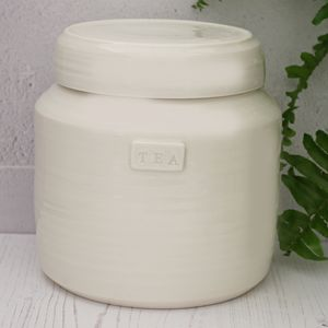 Hand Thrown Porcelain Storage Jar - kitchen
