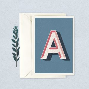 Alphabet Greetings Card - blank cards