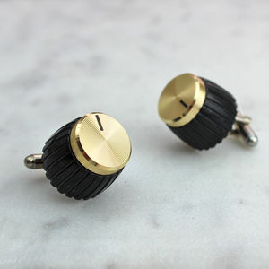 Gold Amp Knob Cufflinks - music lover
