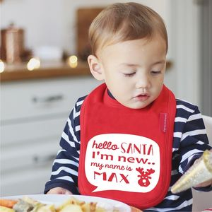 Hello Santa Personalised Bib - stocking fillers