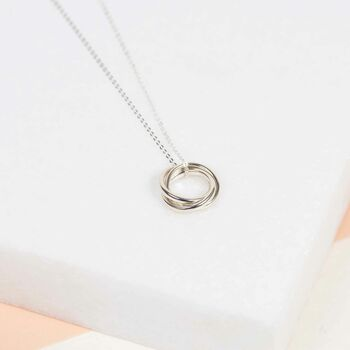 Sterling Silver Russian Wedding Ring Pendant