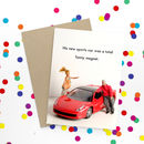 Sports Car Funny Card