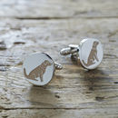 Daddy And Me Golden Retriever Cufflinks And Tag