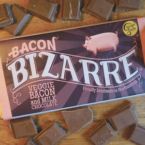 Veggie Bacon Milk Chocolate Bizarre Bar - chocolates