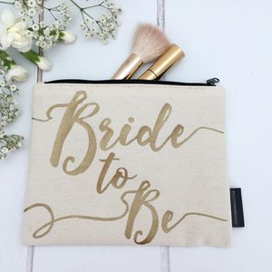 'Bride To Be' Bride Make Up Bag - make-up & wash bags