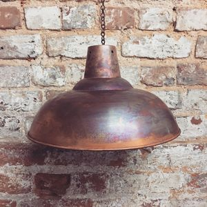 Industrial Copper Lampshade - ceiling lights