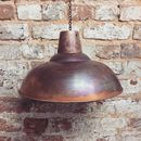 Industrial Copper Lampshade