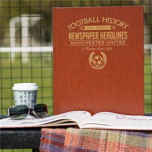 Personalised Football Club Team History Book - gifts for him