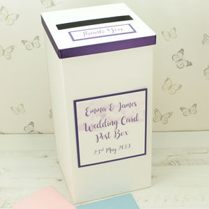 Personalised Watercolour Wedding Post Box