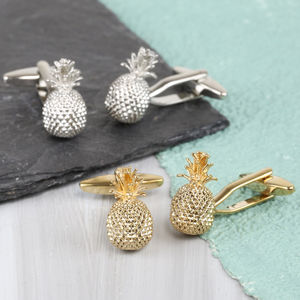 Pineapple Cufflinks - cufflinks