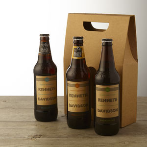 Personalised Real Ale Trio - personalised gifts for him