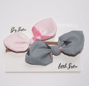Small Bow Set, Pink