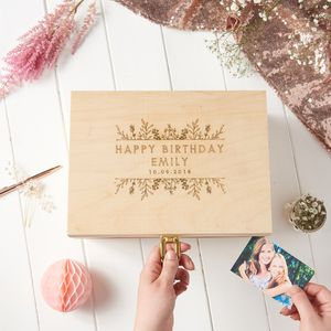 Personalised Birthday Keepsake Box - 21st birthday gifts