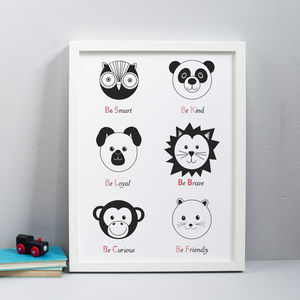 Animal Personality Print - pictures & prints for children