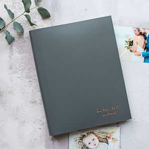 Personalised A4 Leather Photo Album - gifts for him
