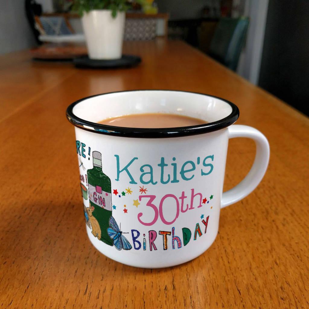 Personalised Milestone Birthday Mug