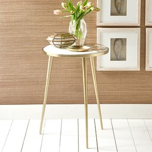 Marble And Natural Agate Gold Legged Table - furniture