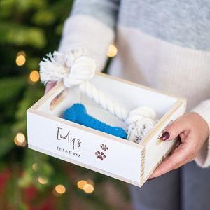 Personalised Pet Christmas Eve Treat Box