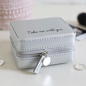 Personalised Mini Square Quote Travel Jewellery Box - new in womens jewellery