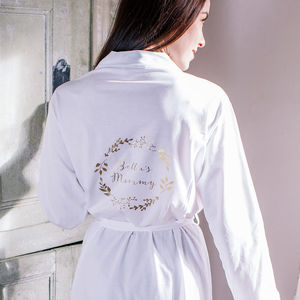 Personalised Botanical Mummy Dressing Gown