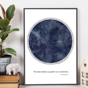 Personalised Constellations Print With Quote