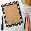 Pattern Clipboard, Blue Geometric Design