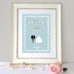 Personalised Keepsake Wedding Print - best wedding gifts