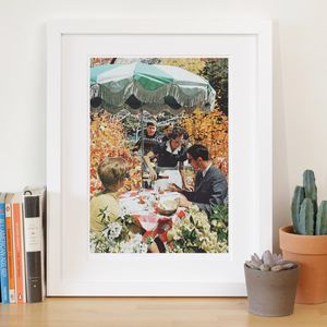 'Drink Up' Retro Collage Art Print