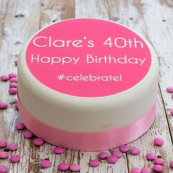 Personalised Birthday #Celebrate Cake Topper