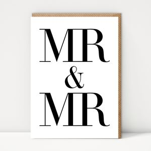 Mr And Mr Celebration Card