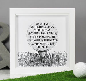 'Golf Is Ineffectual' Funny Quote Print - activities & sports