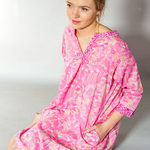 Florence Kaftan In Dapple And Watergarden Prints - lingerie & nightwear