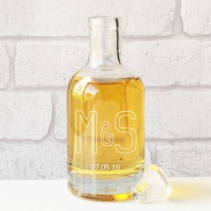 Personalised Couple's Monogram Glass Decanter Gift - best wedding gifts