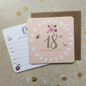 18th Birthday Party Coaster Invitations