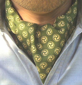 Shion Printed Silk Cravat
