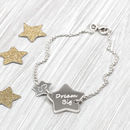Personalised Sterling Silver Double Star Bracelet