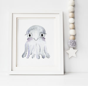 Octopus Print - nursery pictures & prints