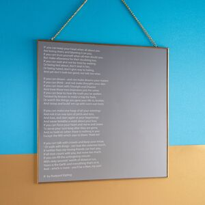 Engraved Square Mirror With Song Lyrics / Poem