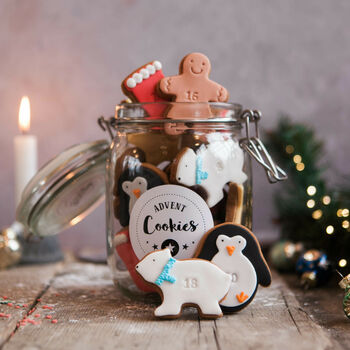 Jar Of Advent Biscuits