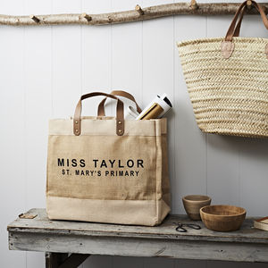 Personalised Teacher Jute Shopper - view all new