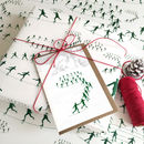 Gift Wrapping Paper And Skating Cards