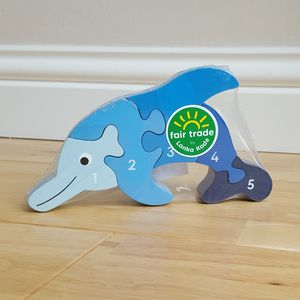 Jigsaw Wooden Dolphin 1-5 - toys & games