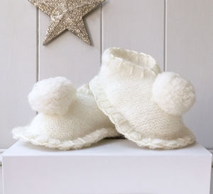 Pure Cashmere Pom Pom Slippers - personalised gifts
