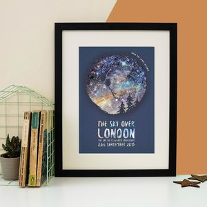 Personalised Owl Couple Star Map