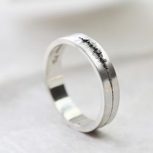 Soundwave Personalised Ring - wedding rings